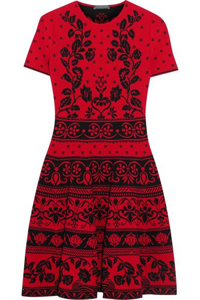 Alexander Mcqueen Knits Jacquard-knit mini dress