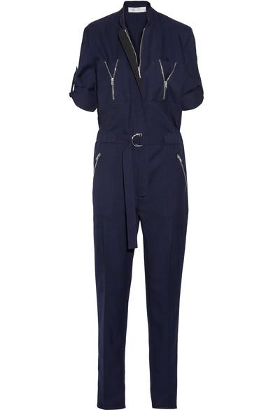 Wool-twill jumpsuit