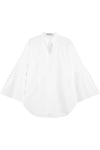 Valentino Cottons Bell-sleeve cotton-poplin blouse