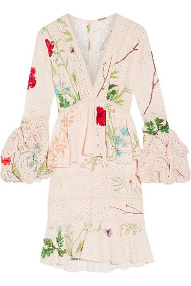 Johanna Ortiz Cottons Vittoria embellished broderie anglaise cotton dress