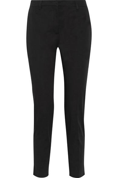 STRETCH-COTTON GABARDINE SLIM-LEG PANTS