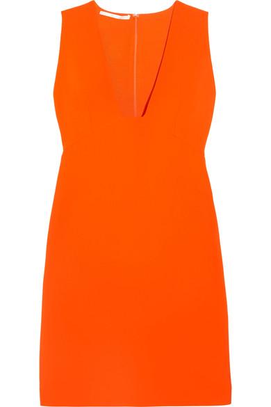 WOMAN STRETCH-CADY MINI DRESS ORANGE