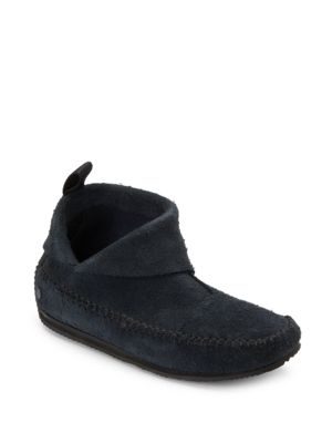Rag & Bone Suedes BRIXTON SUEDE FRINGED MOCCASIN ANKLE BOOTS