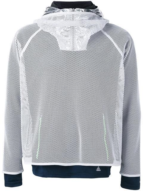 ADIDAS BY KOLOR CLIMACHILL LAYERED MESH HOODED SWEATER