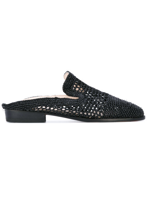 ROBERT CLERGERIE Black Antes Slip-On Loafers
