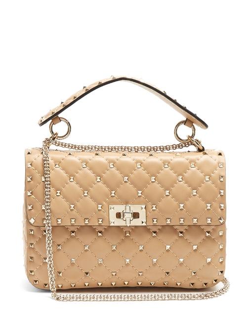 Valentino Bags Rockstud Spike medium quilted-leather shoulder bag