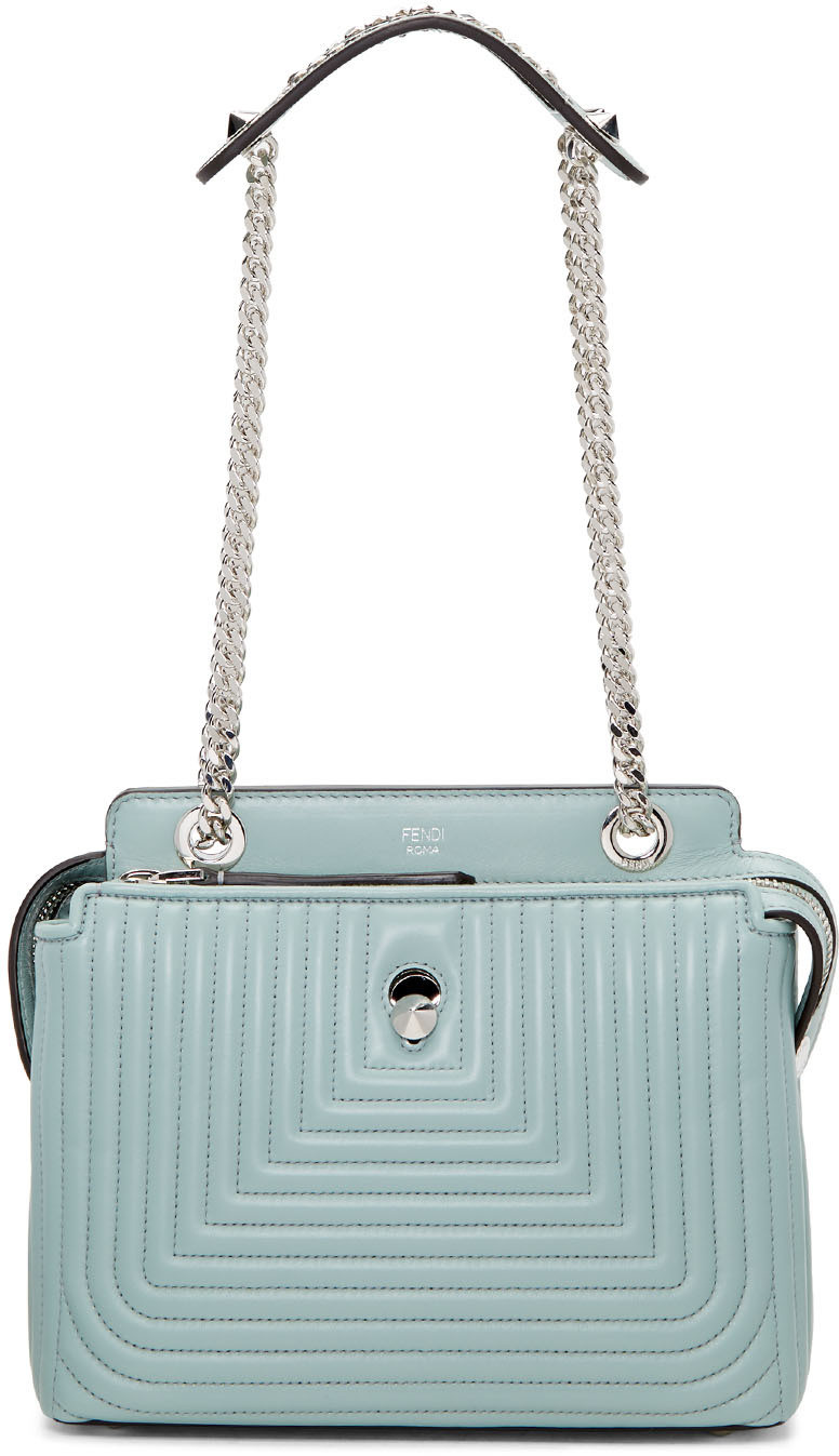 DOTCOM CLICK QUILTED LEATHER SATCHEL - BLUE