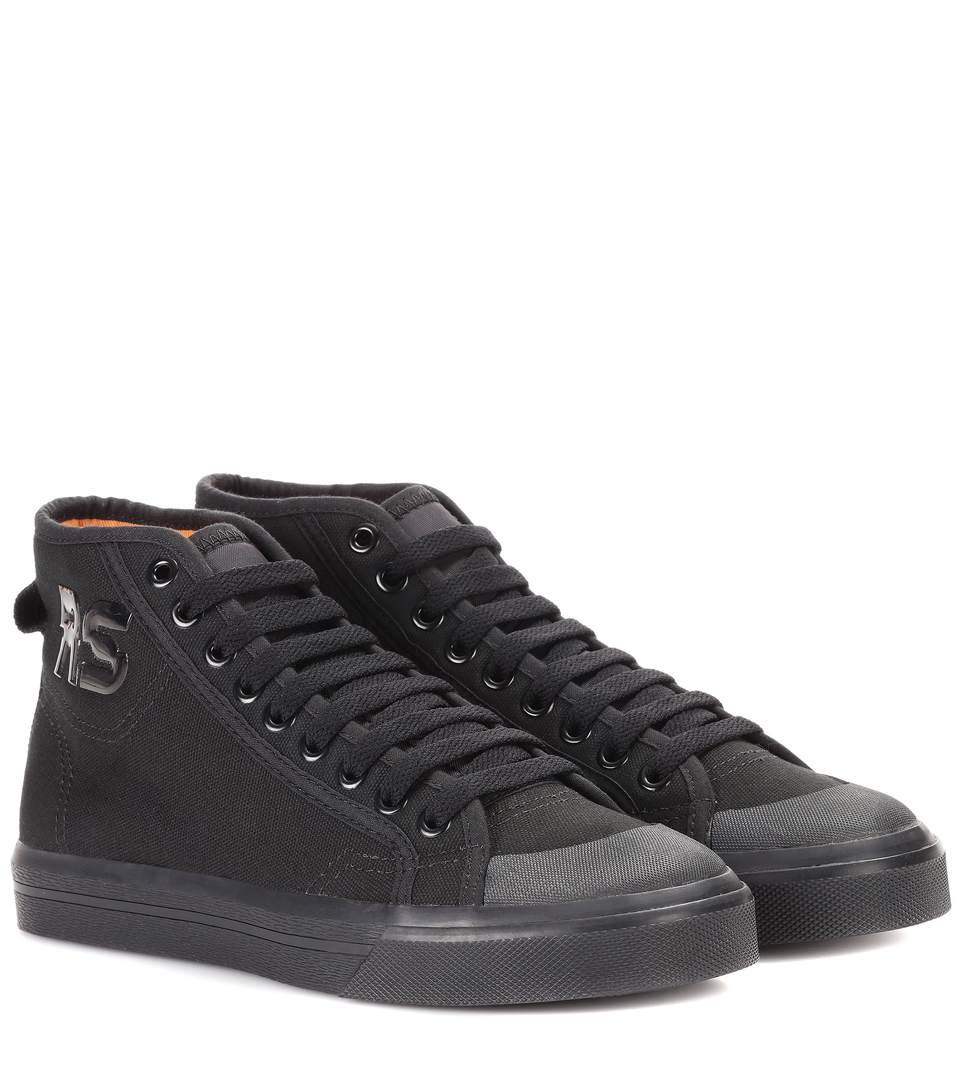 adidas by raf simons spirit high top sneaker in black. Black Bedroom Furniture Sets. Home Design Ideas