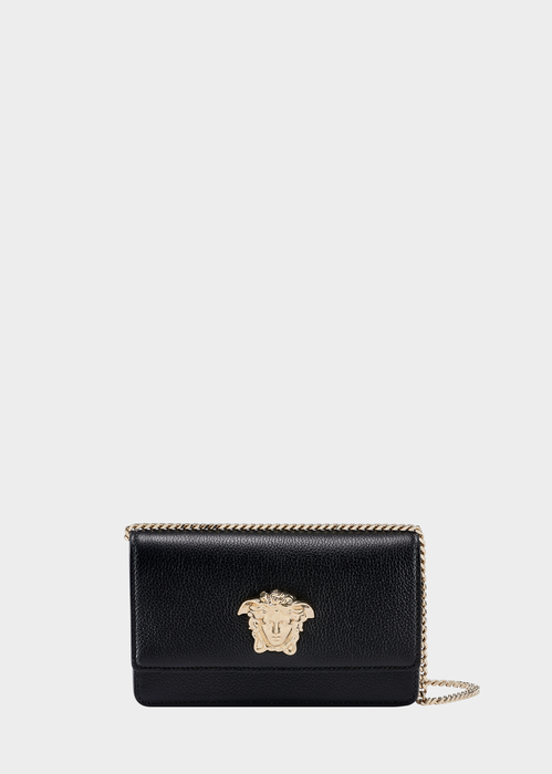VERSACE PALAZZO EVENING BAG WITH CHAIN, BLACK