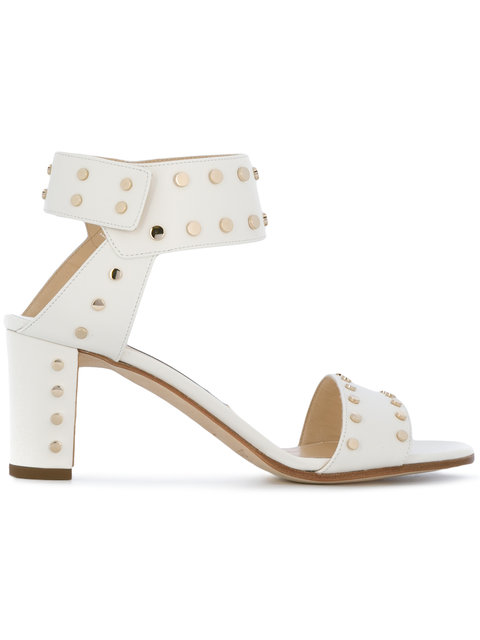 JIMMY CHOO Veto 65 Embellished Leather Sandals