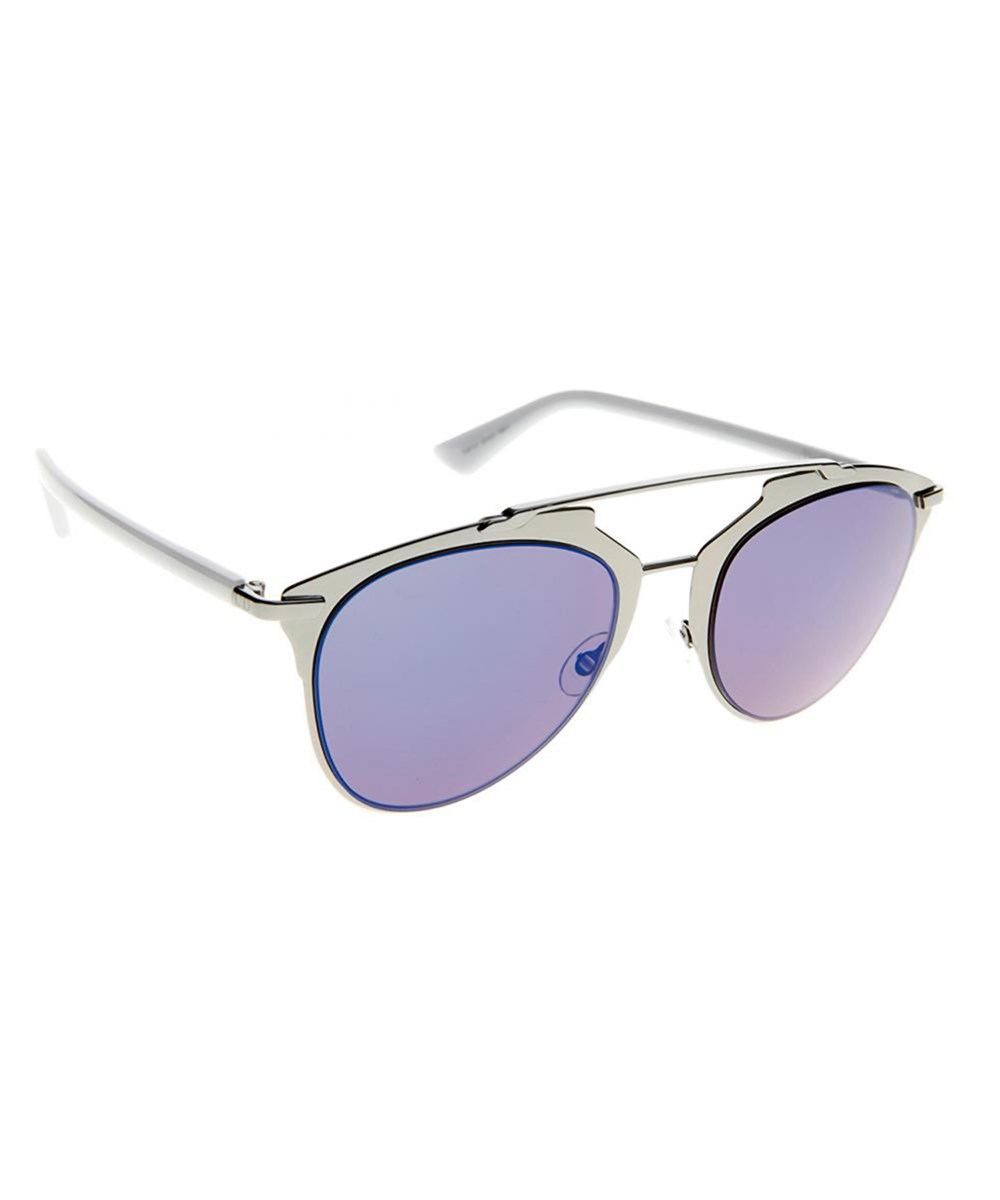 UNISEX REFLECTED AVIATOR METAL SUNGLASSES'