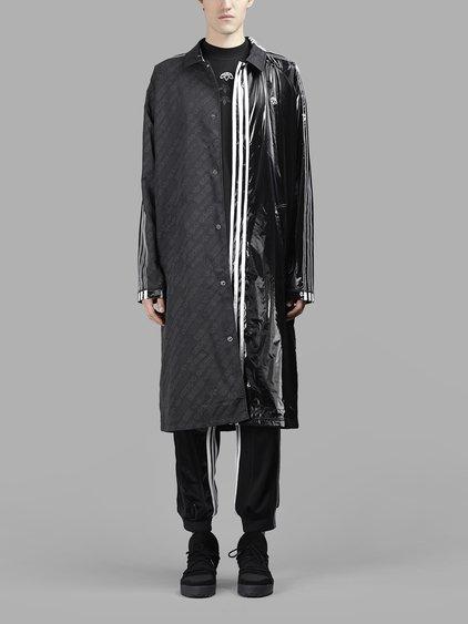 contrasting panel logo coat
