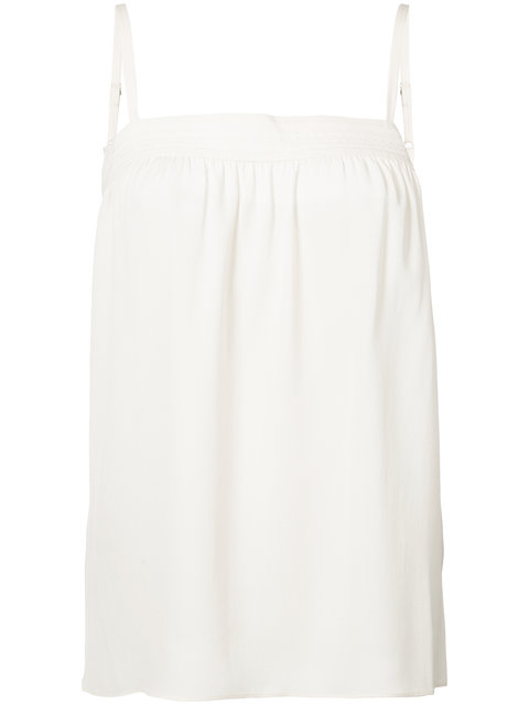 VINCE Embroidered Silk Camisole