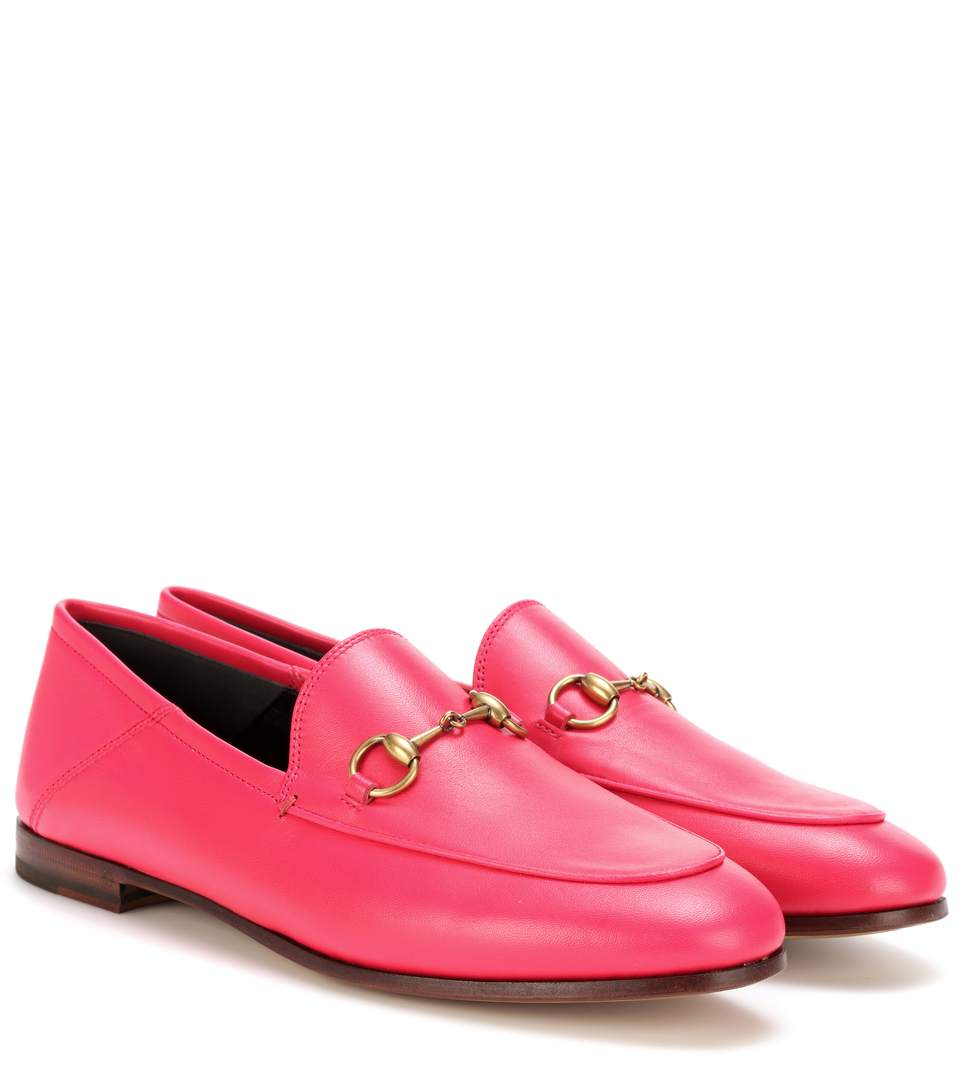Fuchsia Pink Brixton Leather Loafers