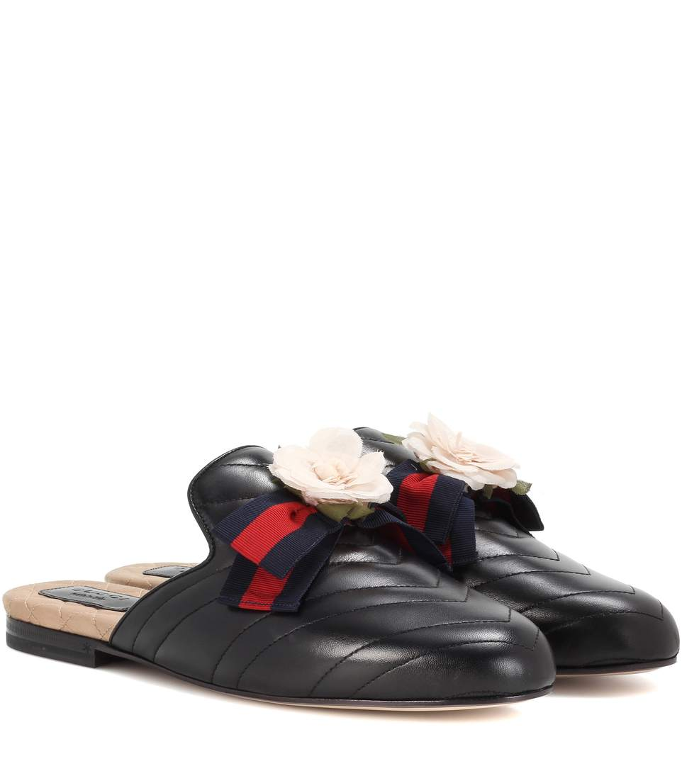 PRINCETOWN EMBELLISHED LEATHER SLIPPERS