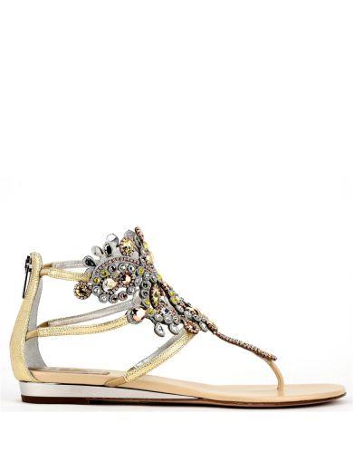 René Caovilla Crystals René Caovilla Embellished Crystal Flat Sandals