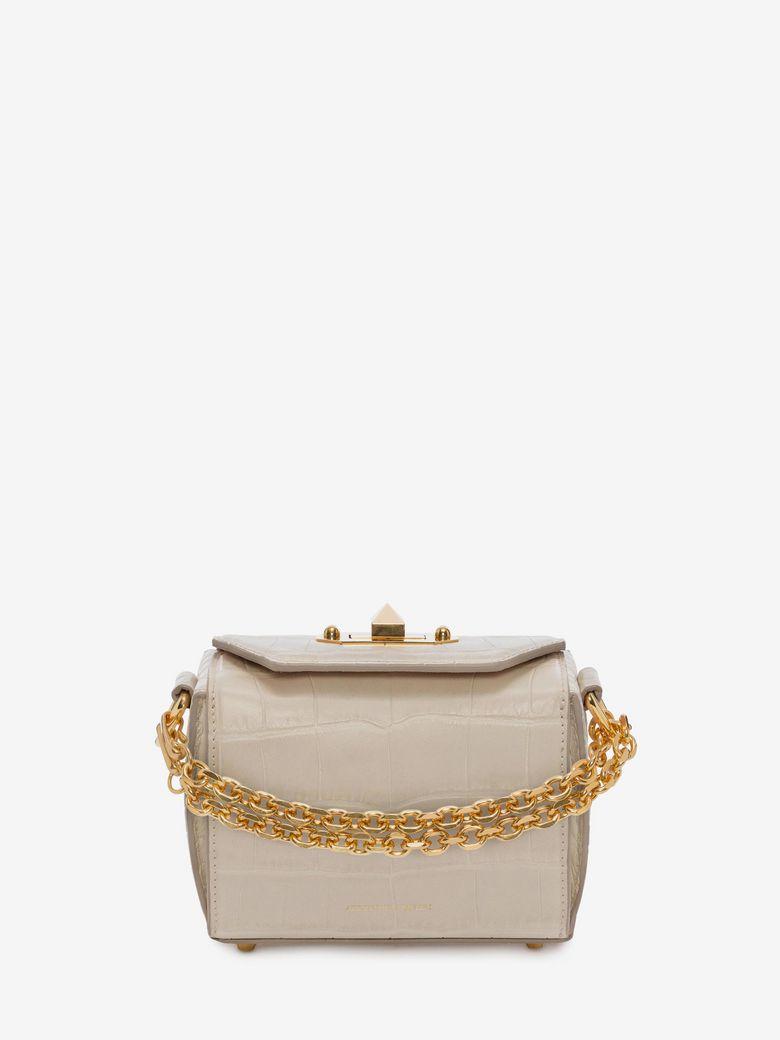 ALEXANDER MCQUEEN Box Bag 16 in Ivory