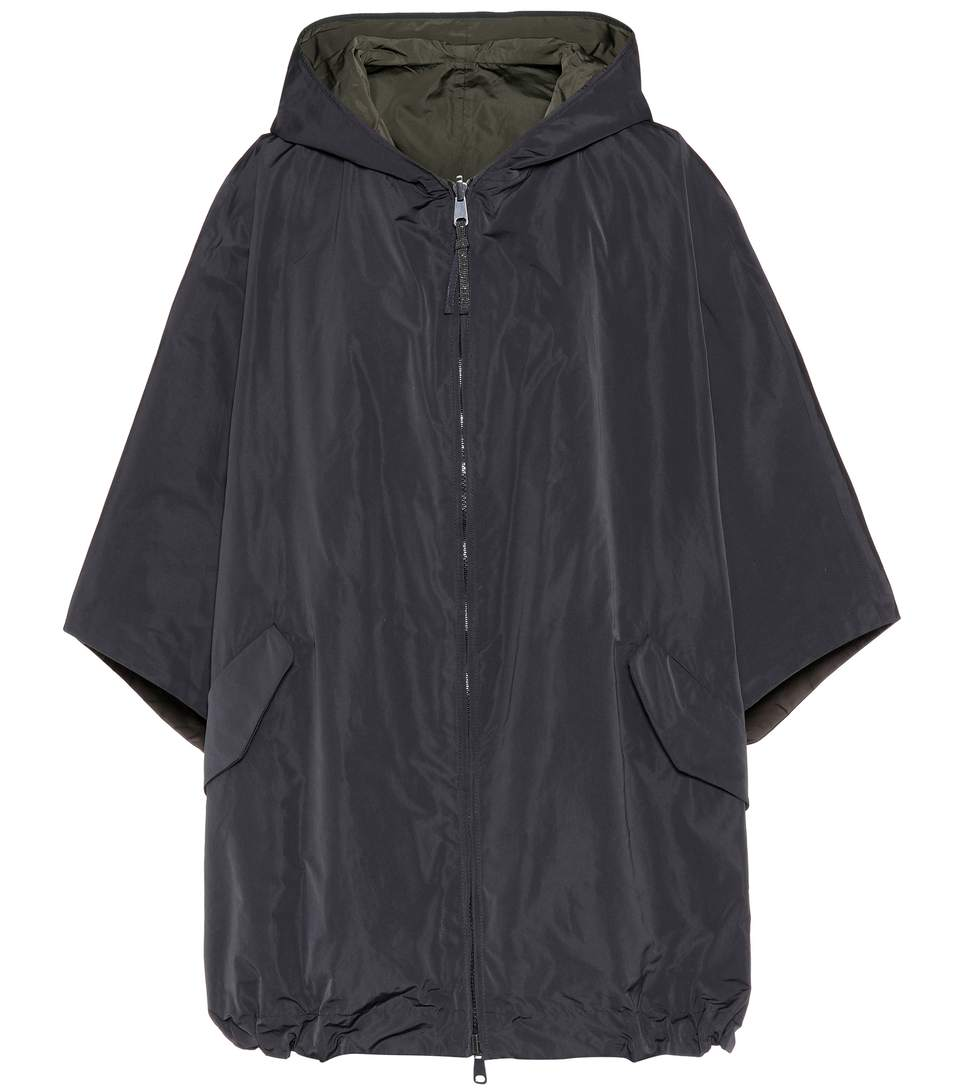 HOODED TECHNICAL FABRIC JACKET