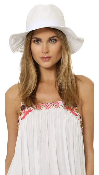 MELISSA ODABASH Fedora Hat in White