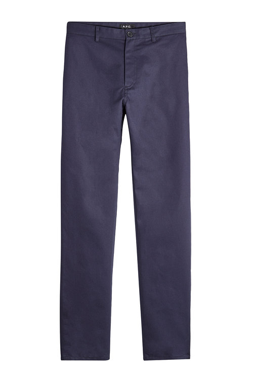A.P.C. Cotton Chinos in Blau