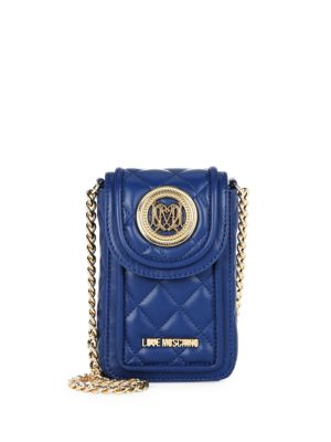 LOVE MOSCHINO Quilted Faux Leather Crossbody Pouch