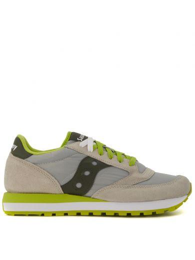 SAUCONY Sneaker  Jazz In Grey Suede And Light Grey Fabric in Grigio