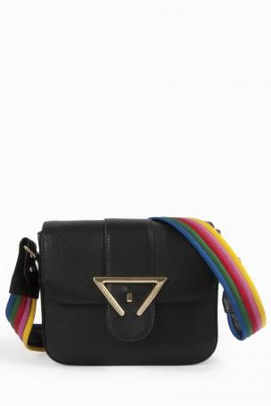 SARA BATTAGLIA Rainbow Strap Crossbody Bag