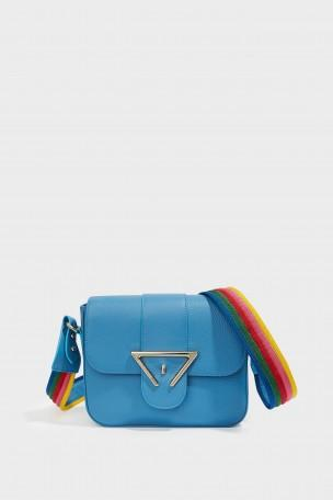 SARA BATTAGLIA Lucy Rainbow Strap Crossbody Bag