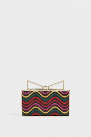 SARA BATTAGLIA Lady Me Linda Waves Clutch