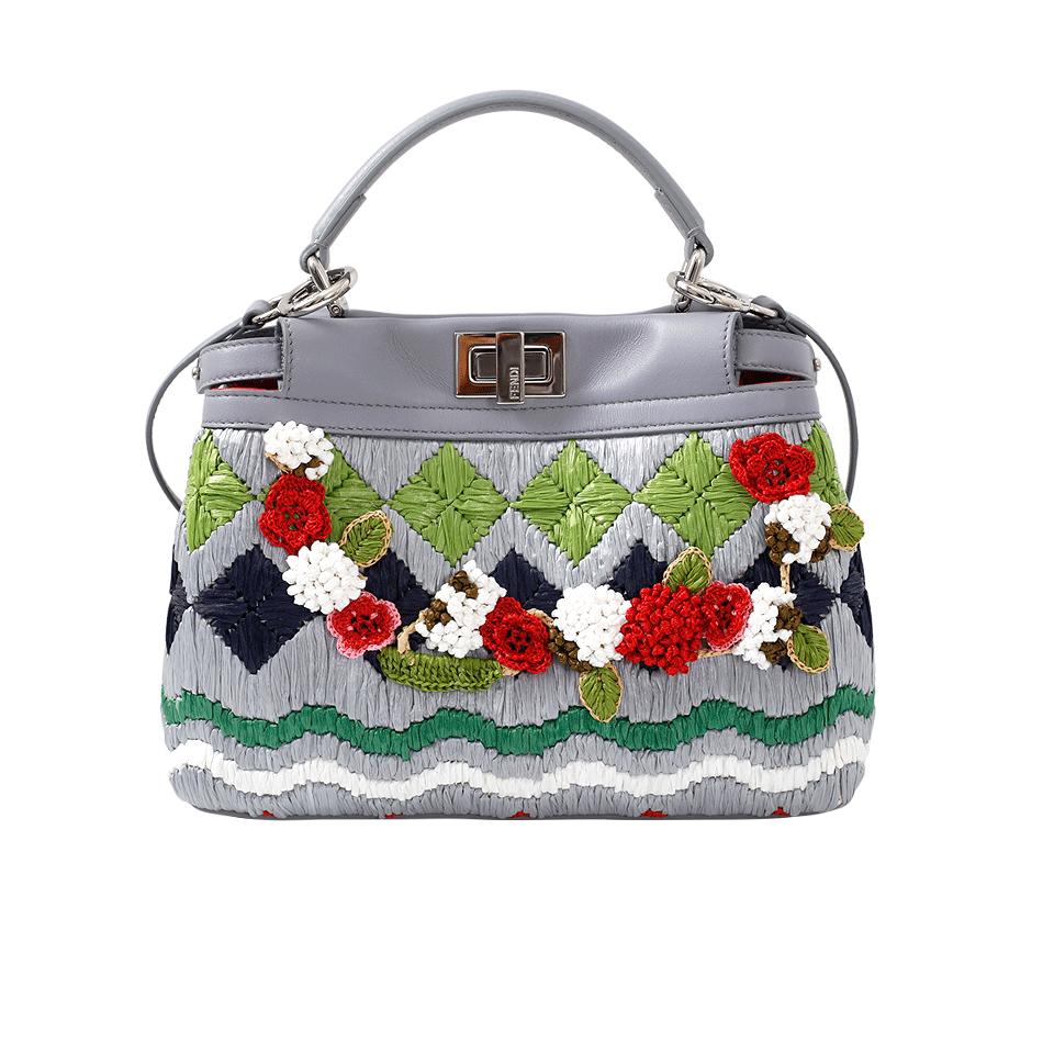 Floral Embroidered Peekaboo Mini
