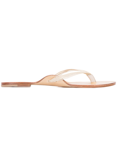 The Row Leathers simple flip flops
