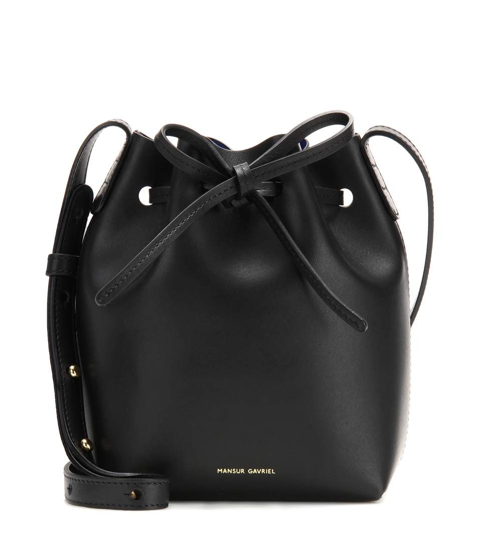 mansur gavriel mini mini leather bucket bag llack modesens. Black Bedroom Furniture Sets. Home Design Ideas