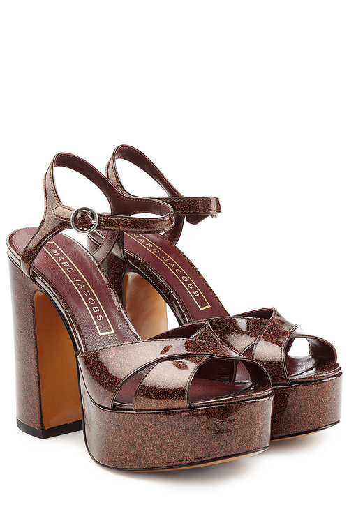 New Style Marc Jacobs Glitter Ankle Strap Sandals Discount Shop Limited Edition Clearance Find Great XEj4H