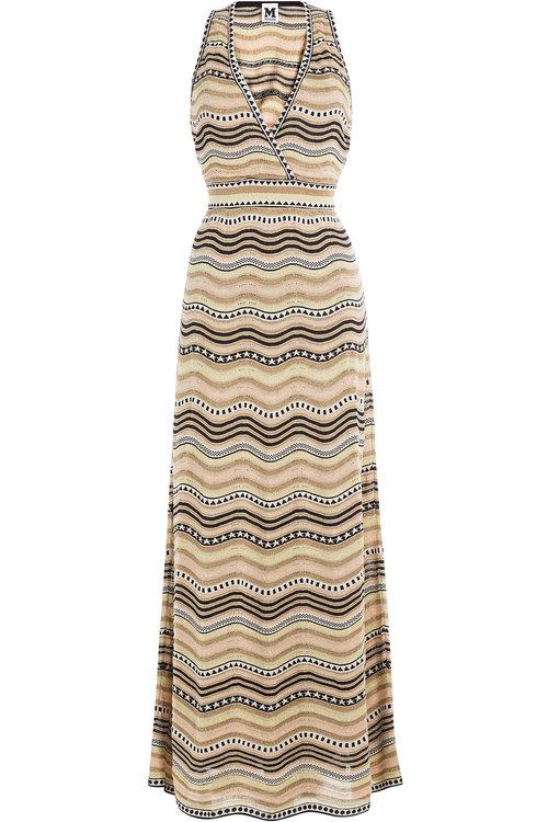 M Missoni Cottons Cotton-Blend Printed Max-Dress