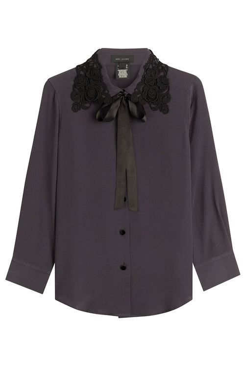 Marc Jacobs Silks Silk Blouse with Embroidery