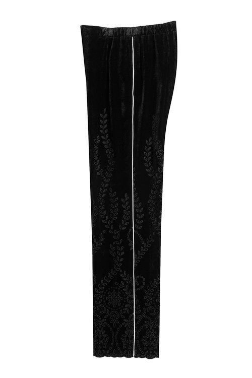 Alberta Ferretti Cottons Wide Leg Velvet Pants