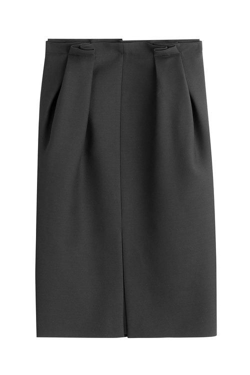 Alexander Mcqueen Silks Wool Skirt with Silk