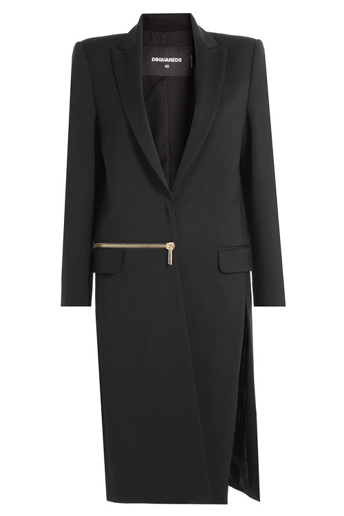 Dsquared2 Wools Coat with Virgin Wool