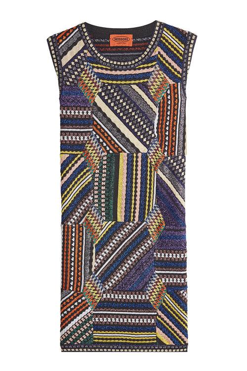 Missoni Linings Knit Sleeveless Dress with Metallic Thread