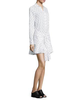 Fil Coupe Tie Front Shirtdress
