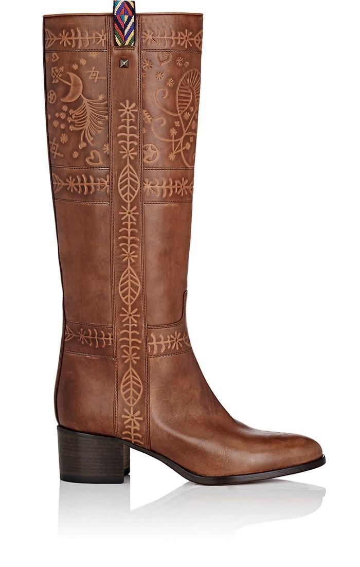 Valentino Leathers Santeria Leather Knee Boots