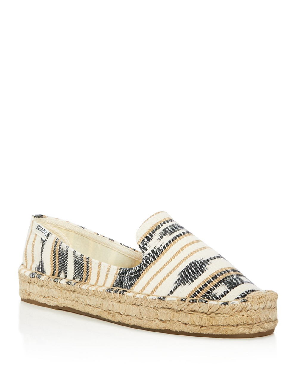 Soludos Low heels Soludos Ikat Platform Smoking Slipper Flats