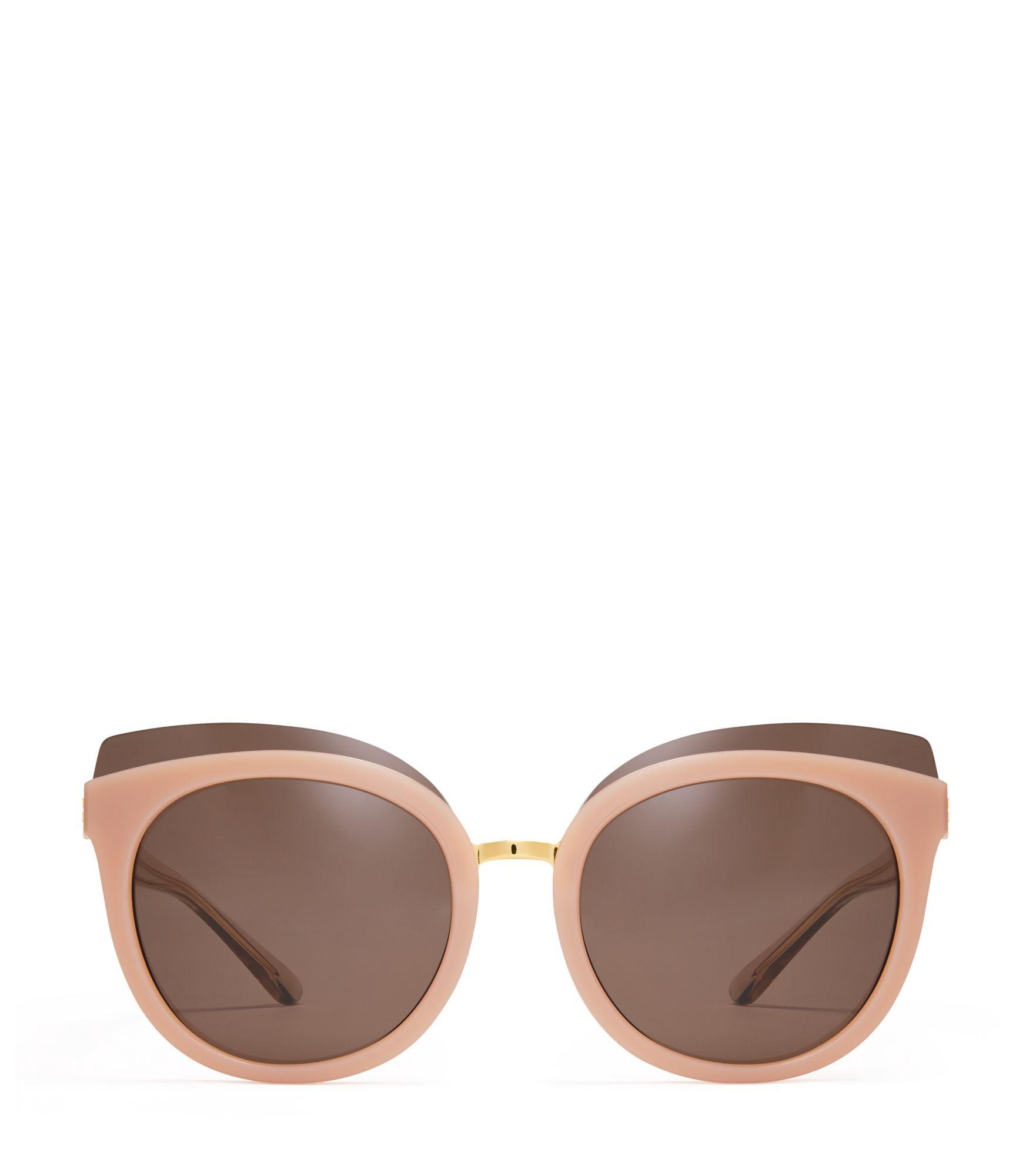 Tory Burch Panama Monochromatic Cat Eye Sunglasses Black