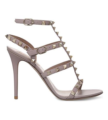 Rockstud studded leather sandals