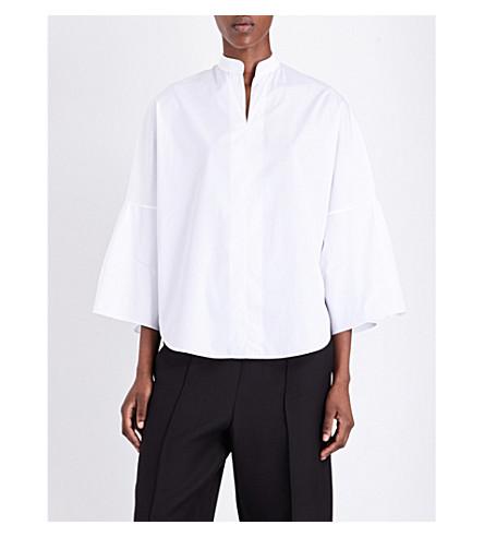 Valentino Cottons Bell-sleeve cotton-poplin shirt