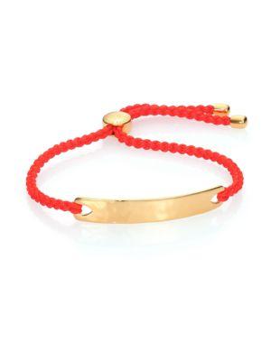 Monica Vinader Bracelets Havana Hammered 18K Yellow Gold Vermeil Friendship Bracelet/Poppy