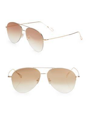 Kyme Stevie 59MM Mirrored Aviator Sunglasses
