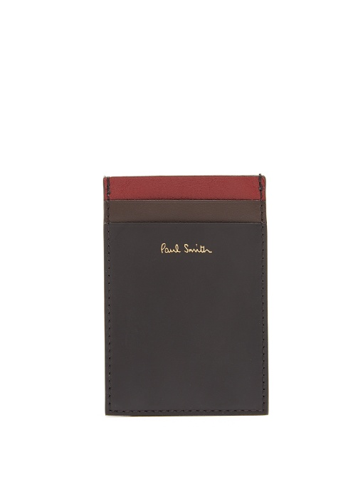 Paul Smith Cardholders Contrast-panel leather cardholder