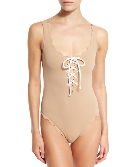 Marysia One-pieces PALM SPRINGS SCALLOPED LACE-UP MAILLOT