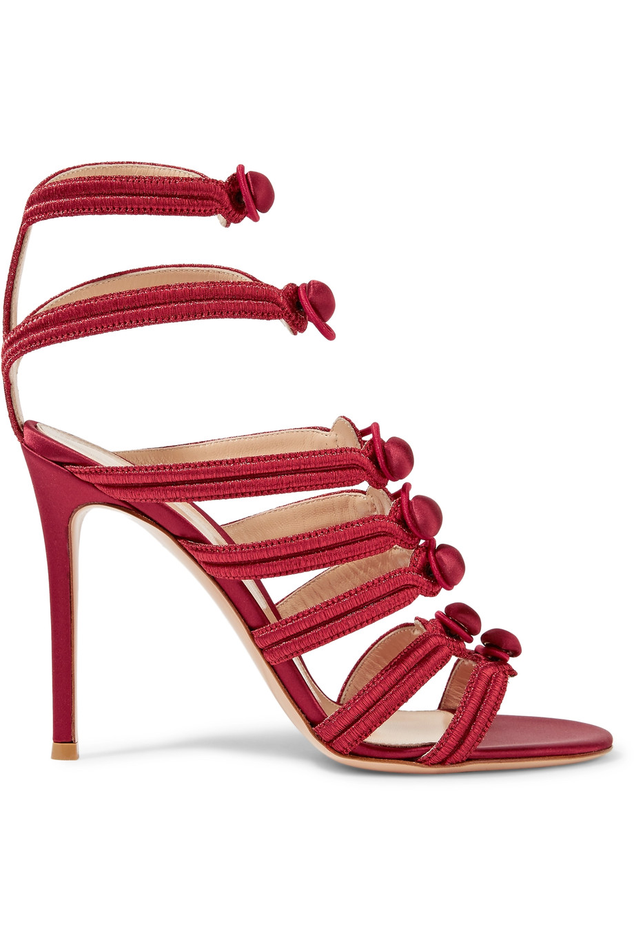 Gianvito Rossi High heels Regalia embroidered satin sandals